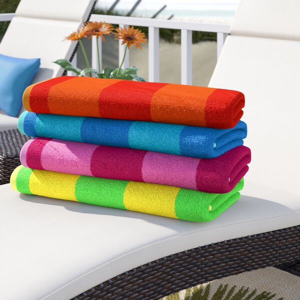 Millstone 100% Cotton Beach Towel (Set of 4) by Beachcrest Home